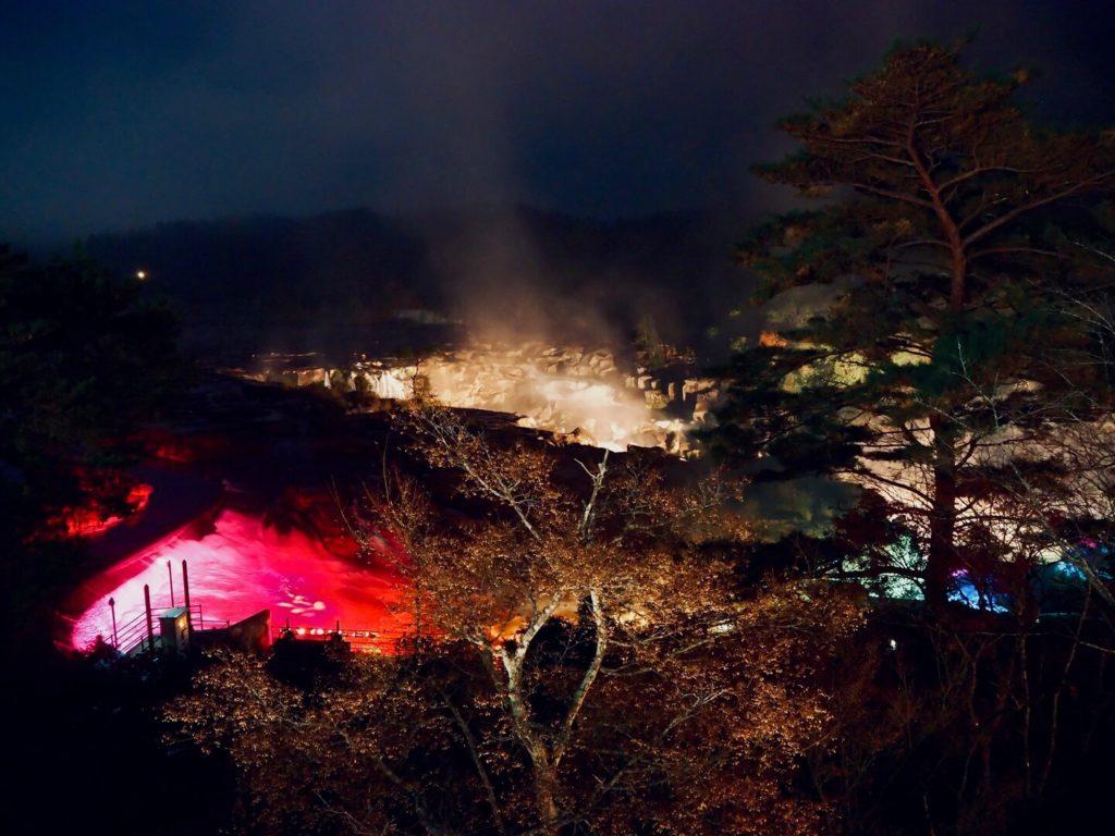曽木の滝公園もみじ祭り 曽木の滝ライトアップ