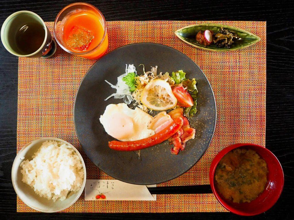 伊佐市_牧場民宿レストラン 和(のどか)_朝食