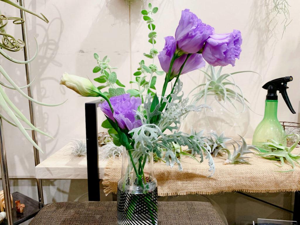 花しん 花瓶に飾ってもらった