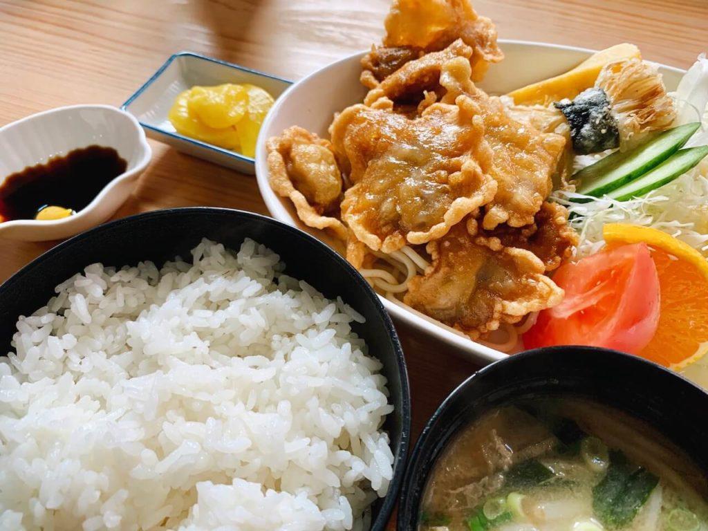 伊佐市_喫茶びっく_豚ロース唐揚げ定食