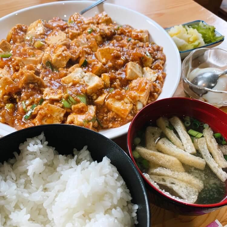 伊佐市_喫茶びっく_麻婆豆腐定食