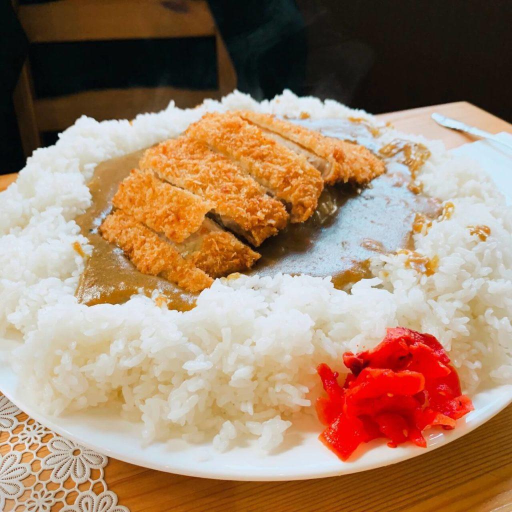 伊佐市_喫茶びっく_カツカレー大_デカ盛り