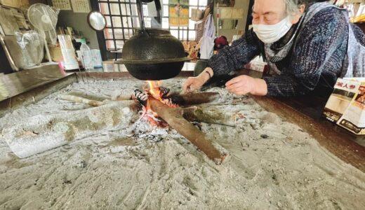【曽木の滝そば庵】囲炉裏を囲んで麺をすする至福の時間はいかがでしょうか??(のんびりお時間のある方限定!笑)